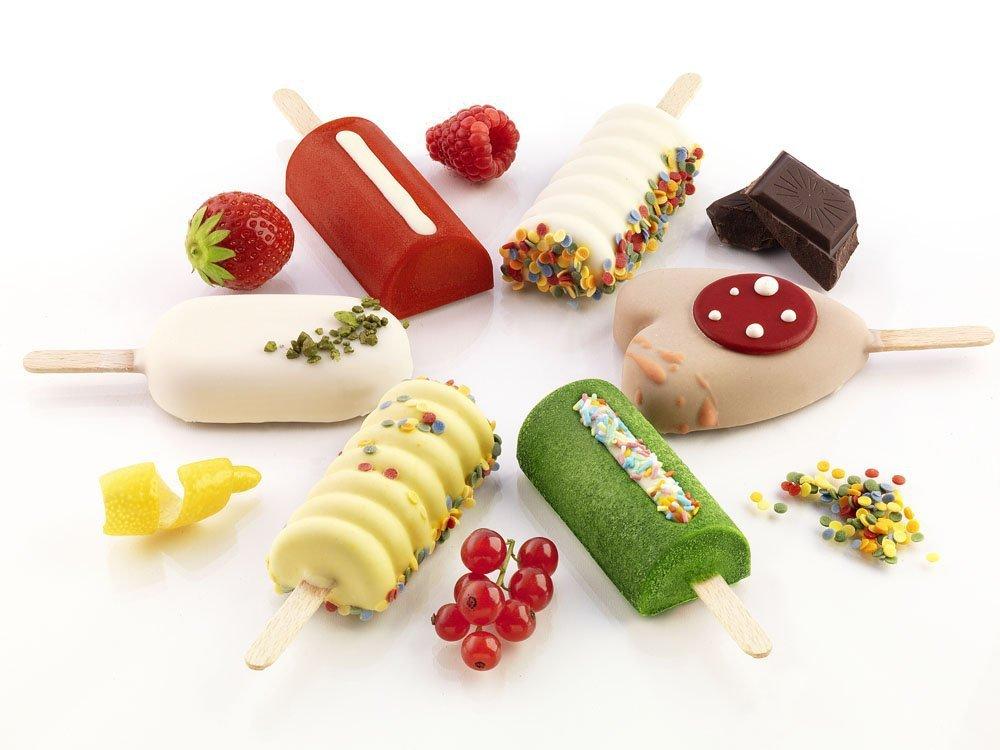 Φόρμα σιλικόνης για παγωτό ξυλάκι Silikomart Mini Classic GEL01M