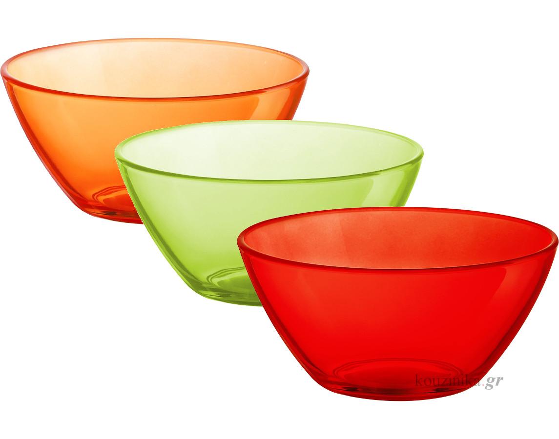 Σαλατιέρα γυάλινη χρωματιστή Luminarc Crazy Colours