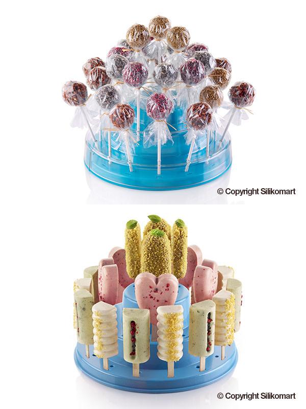 Βάση για γλειφιτζούρια - παγωτά Silikomart Pops Stand