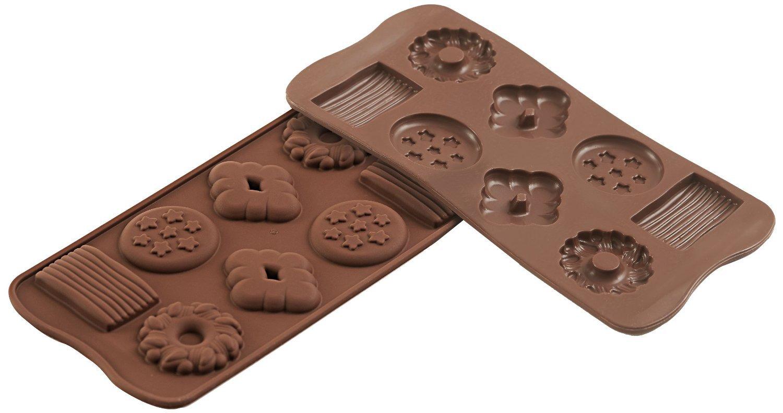 Φόρμα σιλικόνης για σοκολατάκια Choco Biscuits SCG 25