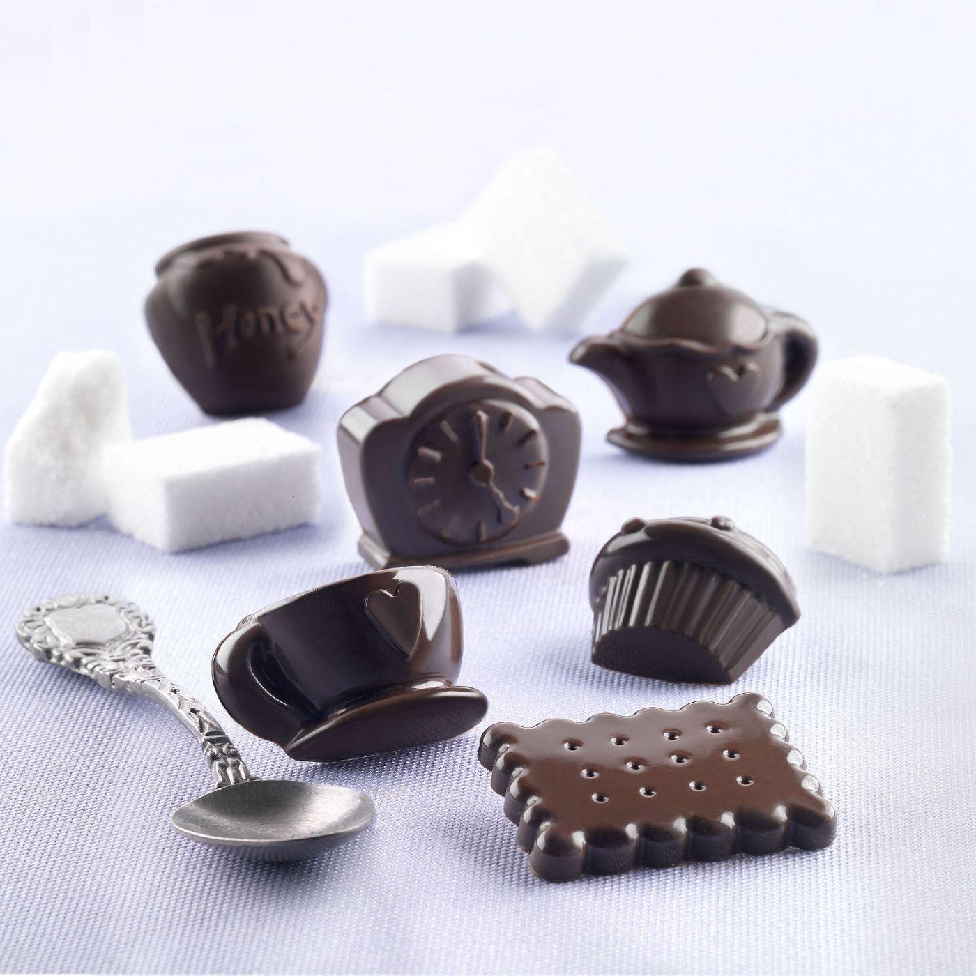 Φόρμα σιλικόνης για σοκολατάκια Tea Time SCG 17