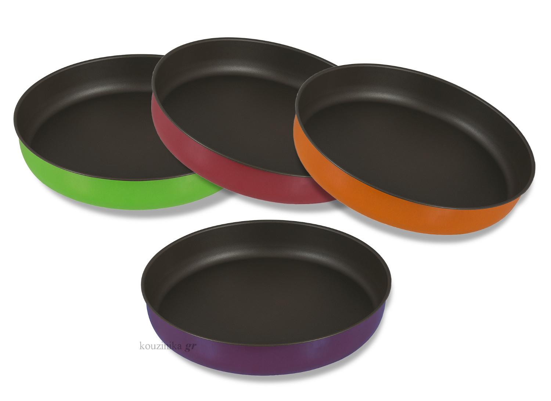 Ταψί στρογγυλό αντικολλητικό σε διάφορα χρώματα