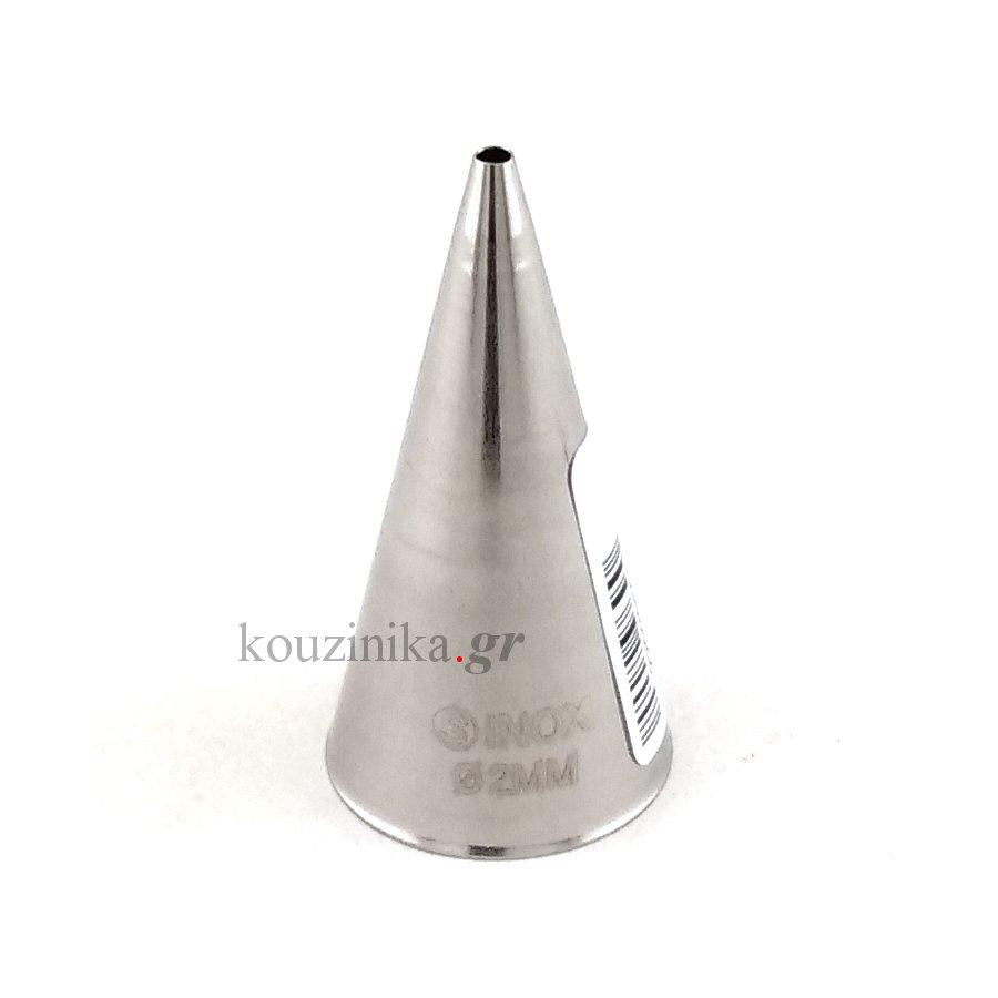 Μύτη κορνέ ανοξείδωτη ίσια 2 mm