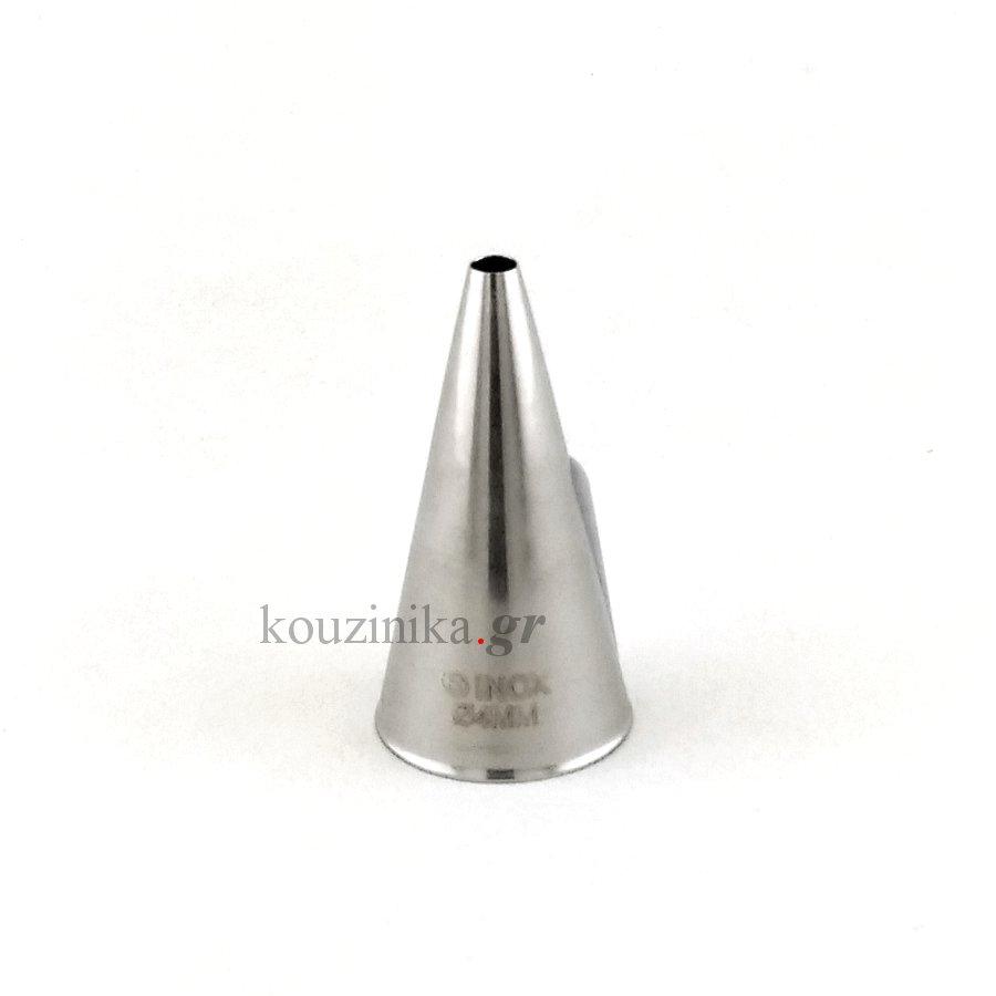 Μύτη κορνέ ανοξείδωτη ίσια 4 mm