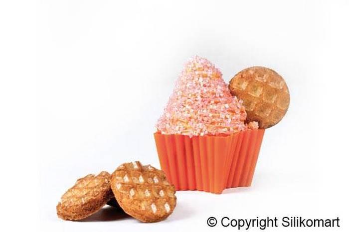 Σετ 6 φορμάκια σιλικόνης Silikomart Cupcake Star