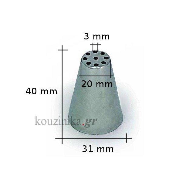 Μύτη κορνέ ανοξείδωτη Silikomart 19 mm BX2219/1