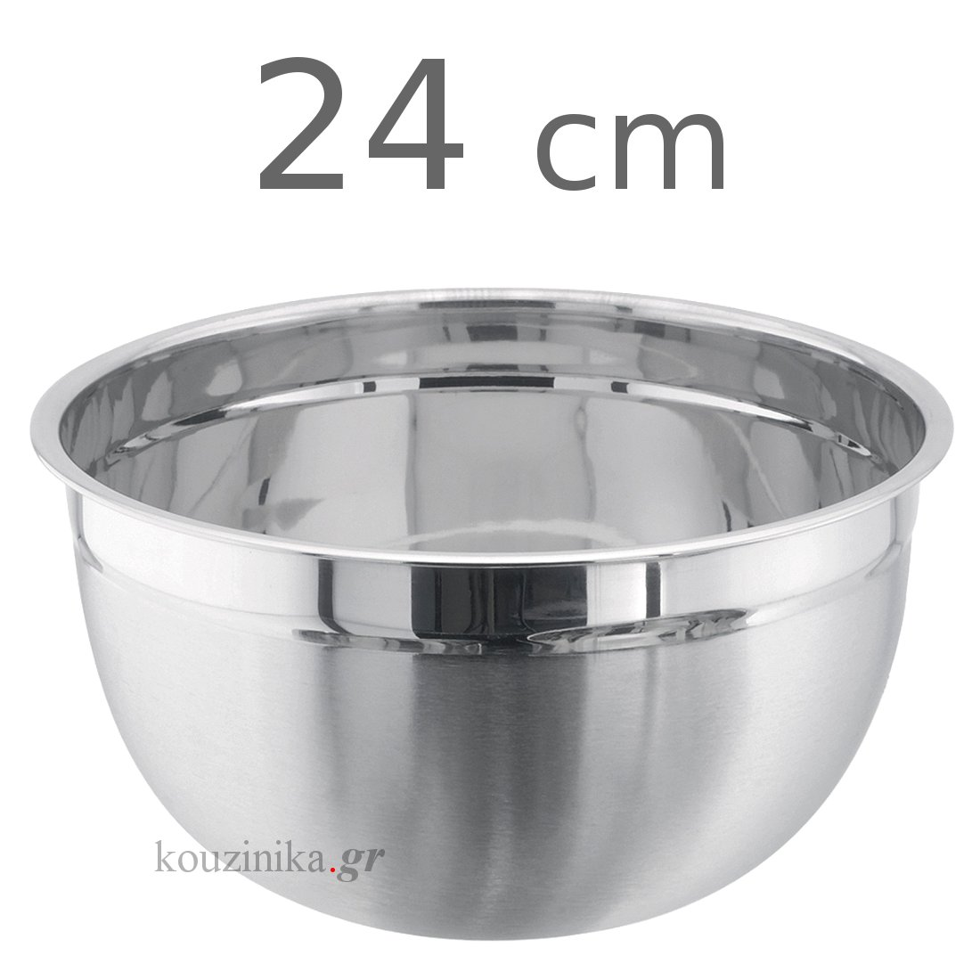 Μπωλ ανοξείδωτο βαθύ σατινέ 24 cm