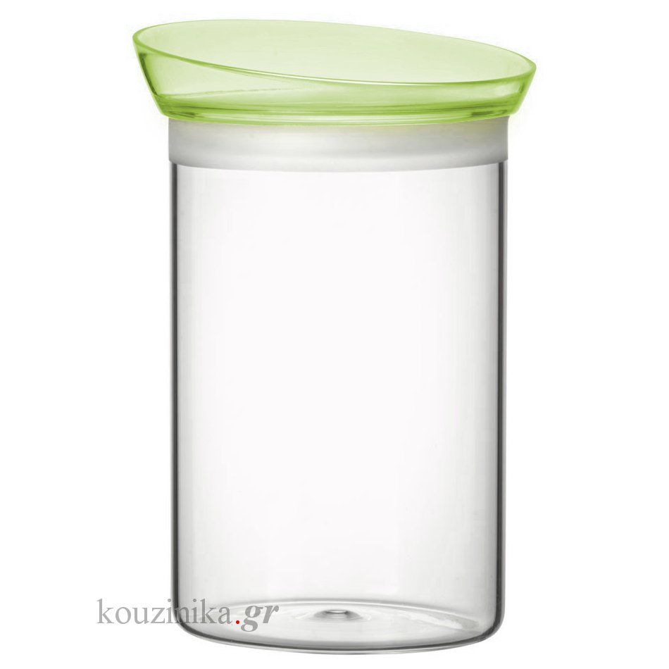 Soffio βάζο γυάλινο με καπάκι πράσινο 1 L