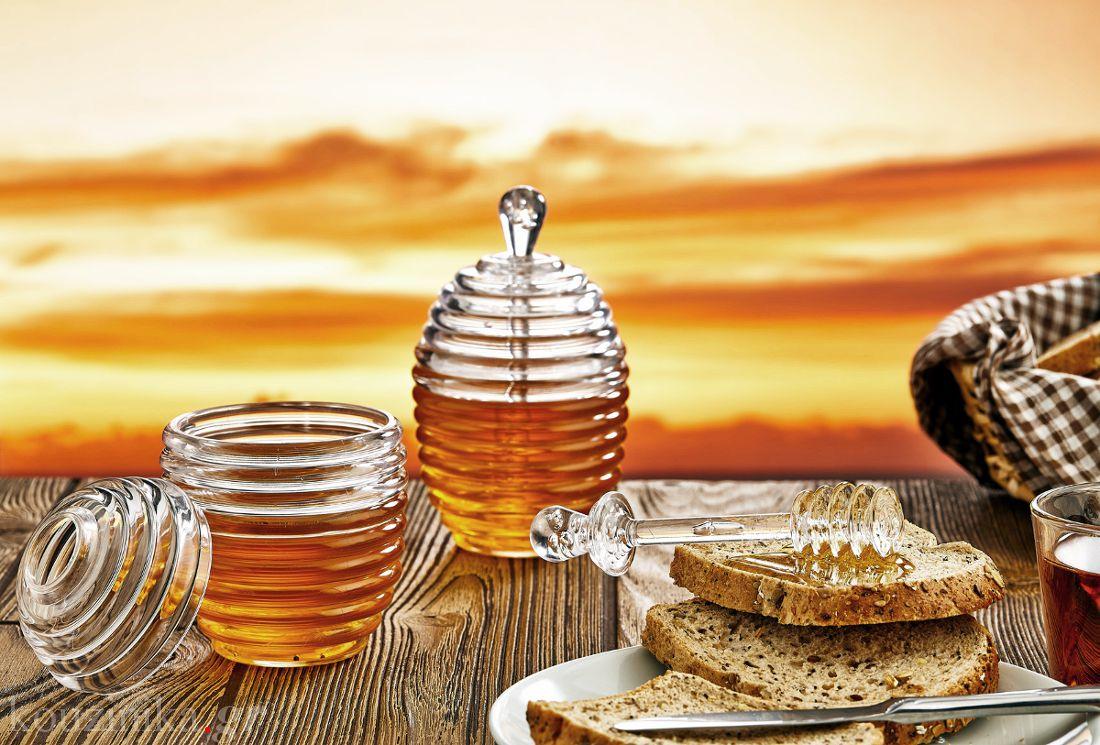 Βάζο για μέλι με κουτάλι ακρυλικό