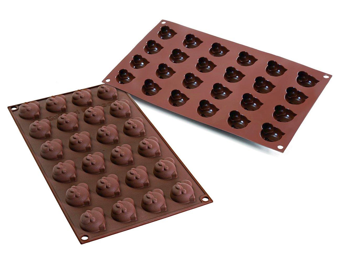 Φόρμα σιλικόνης για σοκολατάκια Silikomart Choco Panda SF141