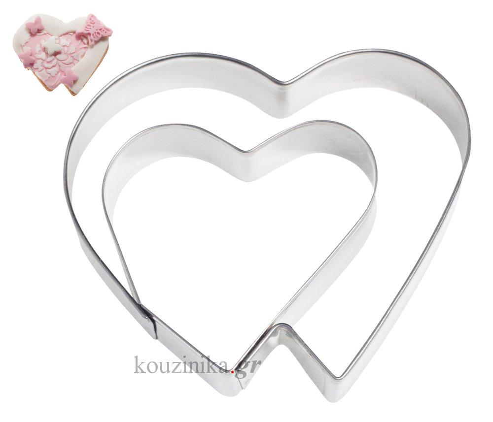 Κουπάτ ανοξείδωτο διπλή καρδιά