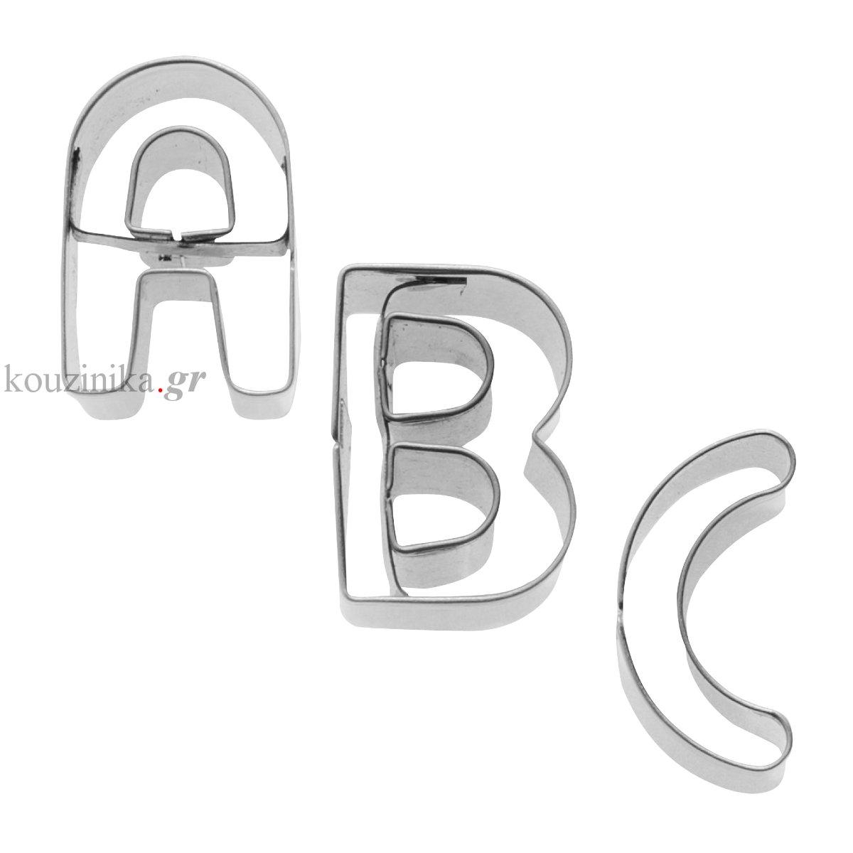 Κουπάτ ανοξείδωτα γράμματα A-Z