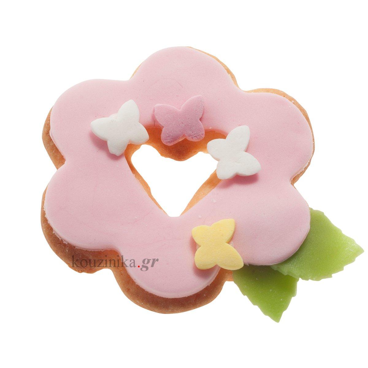 Κουπάτ ανοξείδωτο λουλούδι με καρδιά 2D
