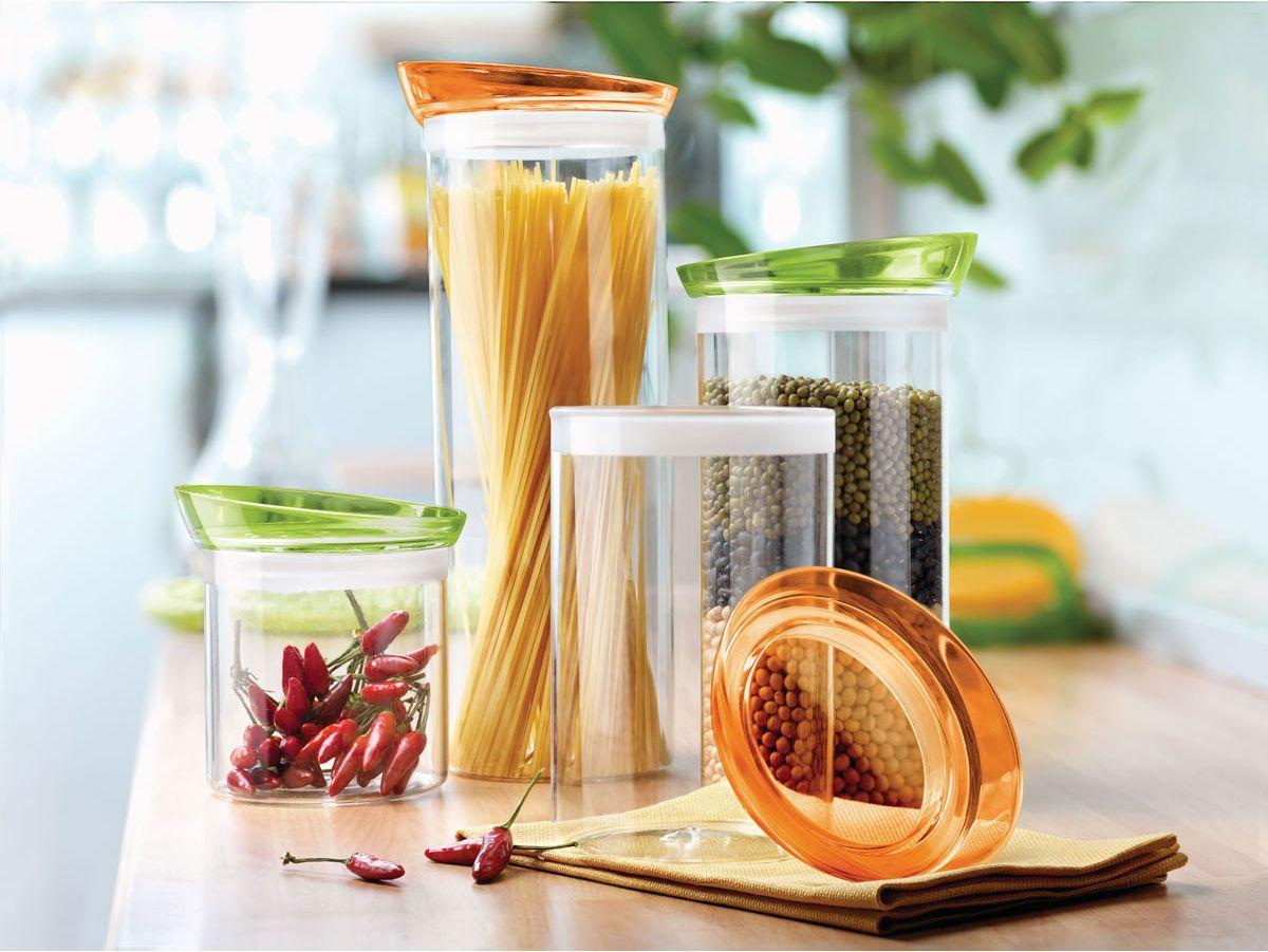 Soffio βάζο γυάλινο με καπάκι πράσινο 1,5 L