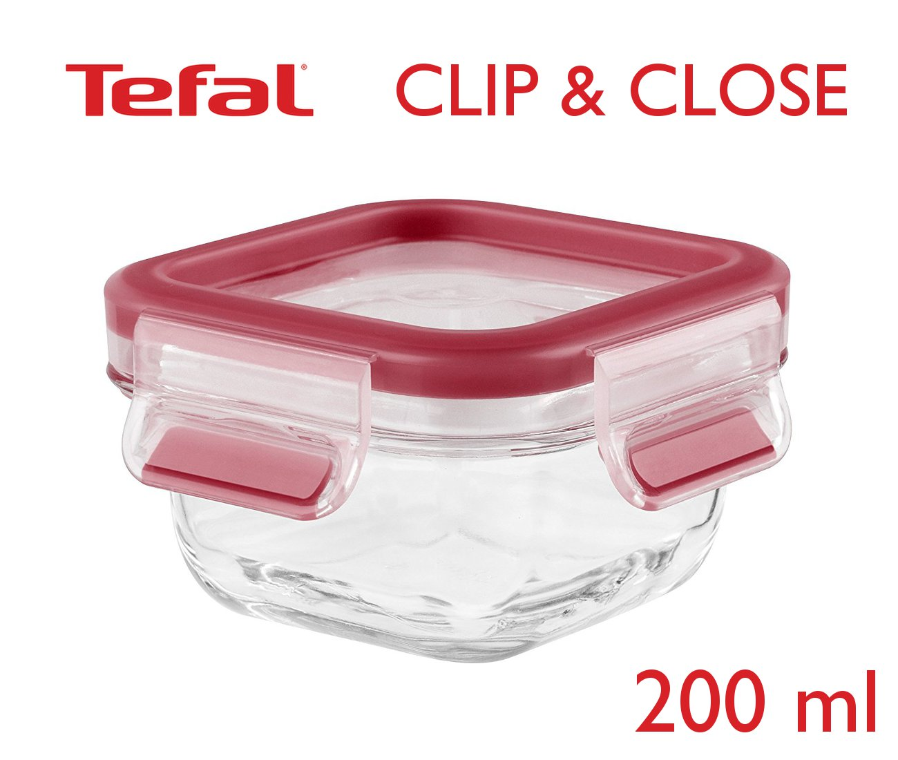 Tefal Clip & Close φαγητοδοχείο γυάλινο 200ml