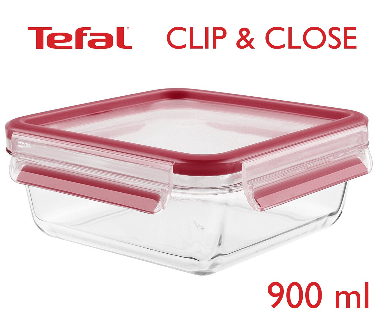 Tefal Clip & Close φαγητοδοχείο γυάλινο 900ml