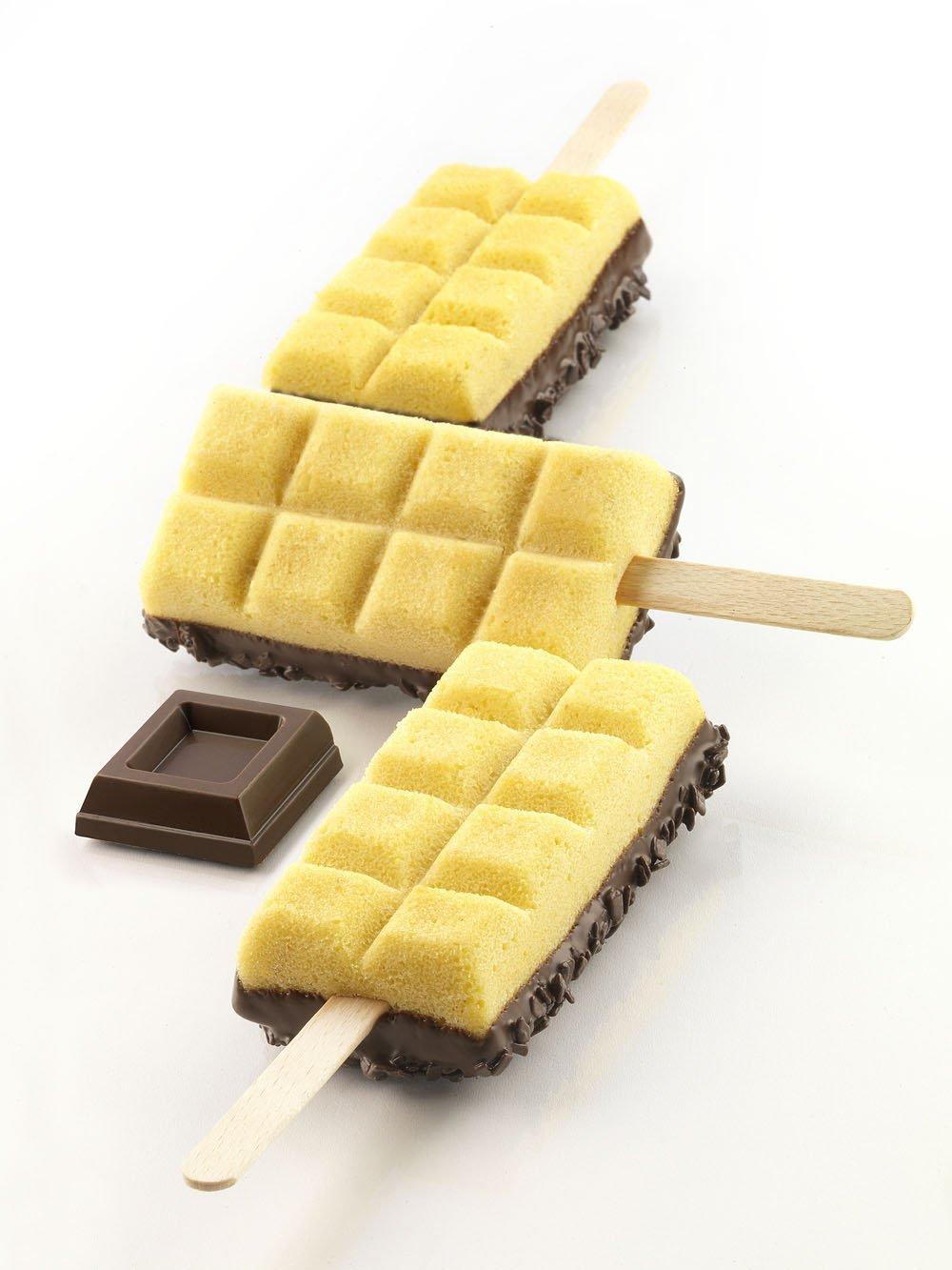 Φόρμα σιλικόνης για παγωτό ξυλάκι Silikomart Chocostick GEL02