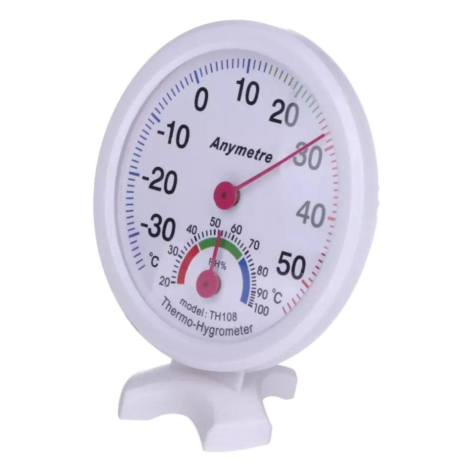 Θερμόμετρο & υγρόμετρο αναλογικό -35 ως 55 °C