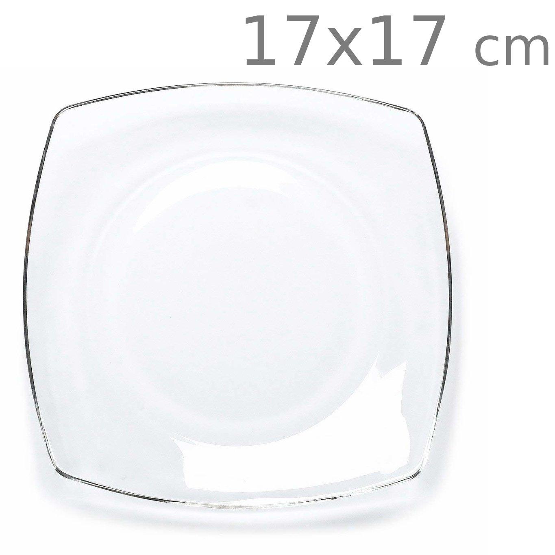 Πιάτο διάφανο τετράγωνο 17x17 cm Eclissi Bormioli