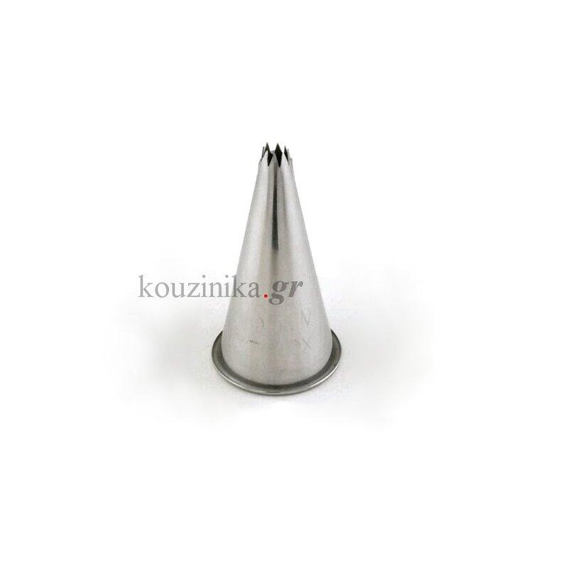 Μύτη κορνέ ανοξείδωτη αστέρι 5 mm
