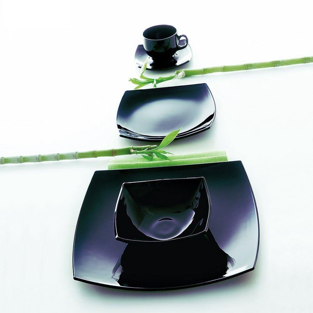 Μπολ τετράγωνο μαύρο Luminarc Delice 16x16 cm