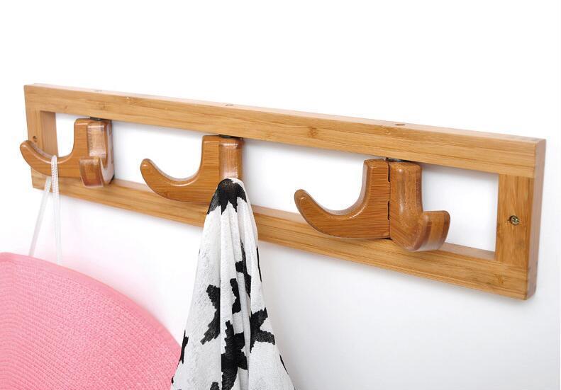 Κρεμάστρα τοίχου ξύλινη 6 γάντζοι