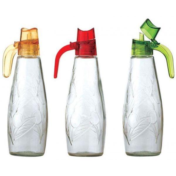 Μπουκάλι για λάδι/ξύδι γυάλινο με πώμα 300cc