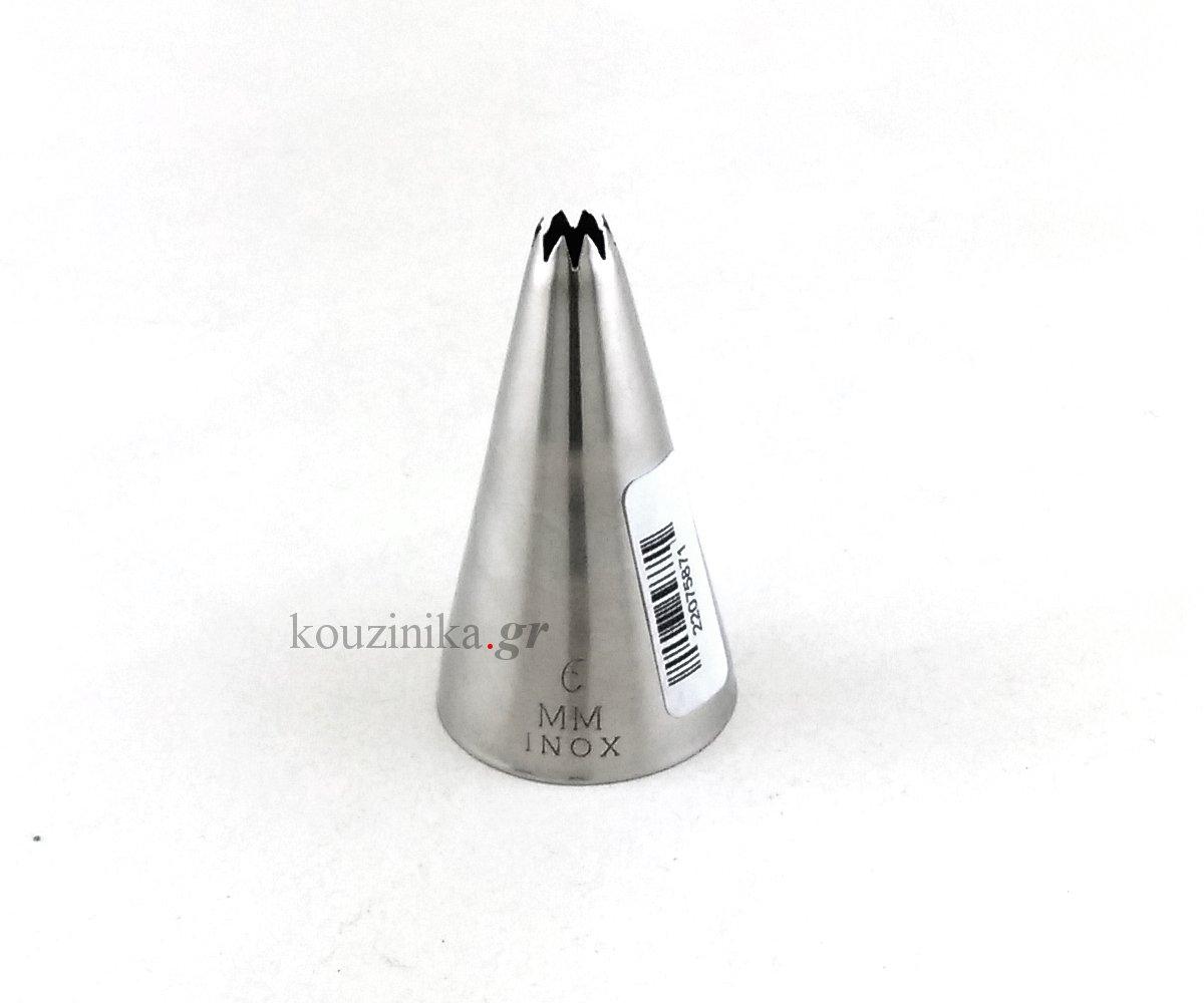 Μύτη κορνέ ανοξείδωτη αστέρι 6 mm