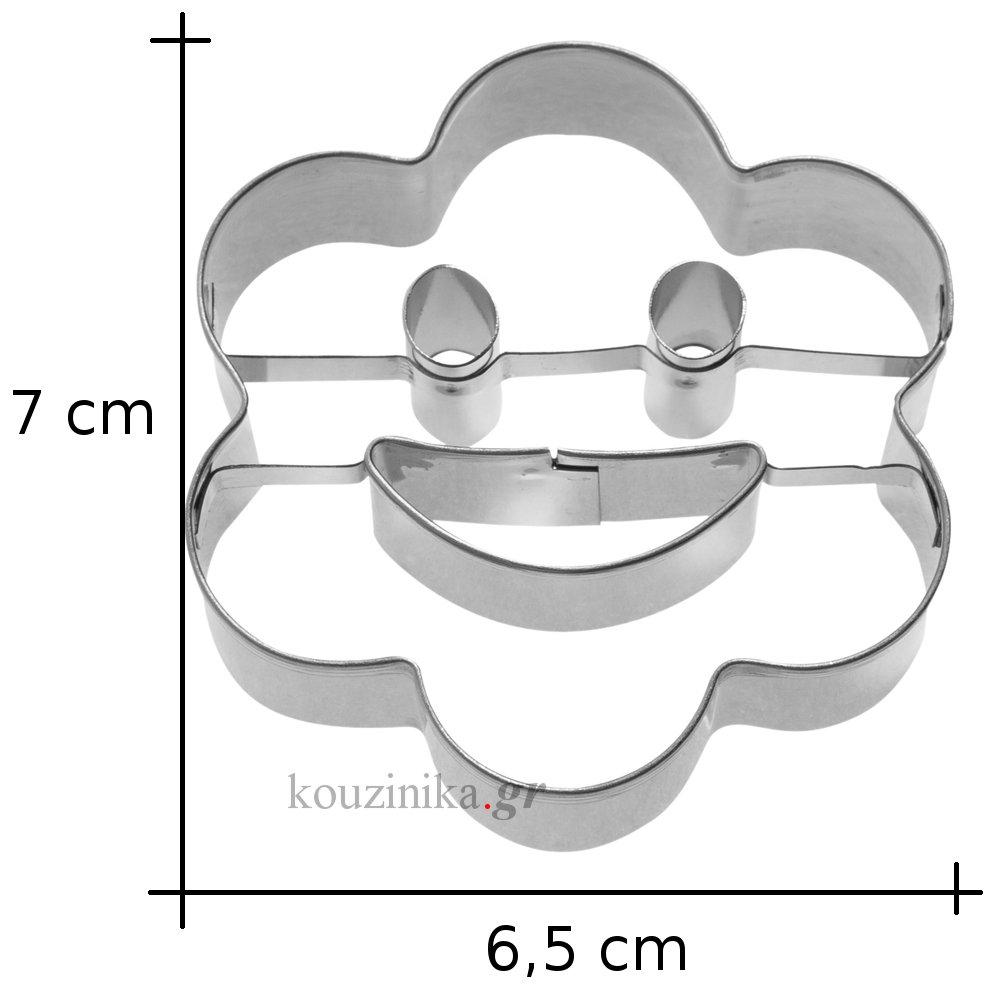 Κουπάτ ανοξείδωτο ροζέτα με χαμόγελο 2D
