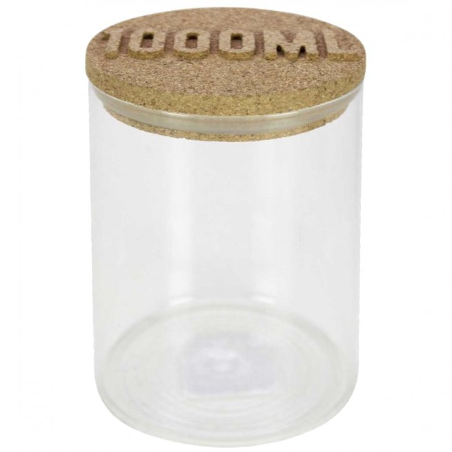 Βάζο γυάλινο 1000 ml καπάκι από φελλό