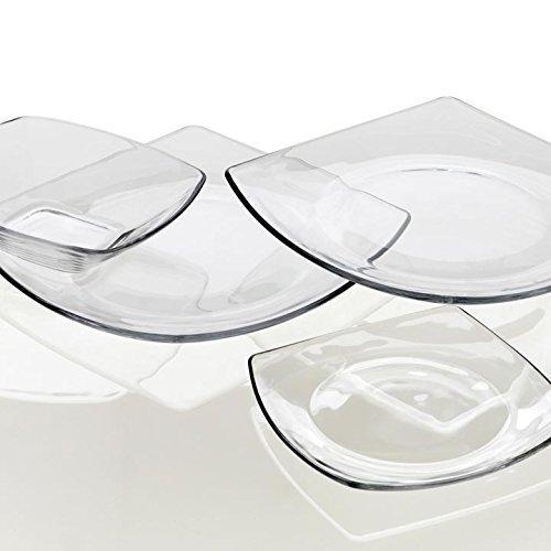 Πιάτο διάφανο τετράγωνο 27x27 cm Eclissi Bormioli