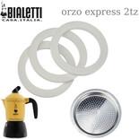 Σετ 3 φλάντζες και 1 φίλτρο για Bialetti Orzo Express 2tz
