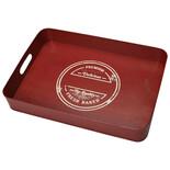 Δίσκος μεταλλικός κόκκινος-χρυσός 39x27 DEB110