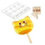 Φόρμα σιλικόνης για παγωτό ξυλάκι Silikomart Cat GEL08