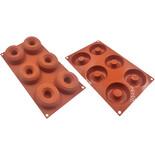 Φόρμα σιλικόνης για 6 Donuts Silikomart SF170