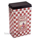 Carrelage μεταλλικό κουτί καφέ με κούμπωμα ασφαλείας