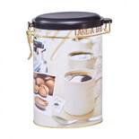 Coffee μεταλλικό κουτί οβάλ με κούμπωμα ασφαλείας