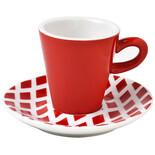Φλυτζάνι espresso φόρμα V κόκκινοι ρόμβοι SBD744
