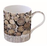 Wild Life  κούπα πορσελάνη Wood Logs 350 ml