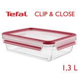 Tefal Clip & Close φαγητοδοχείο γυάλινο 1,3L